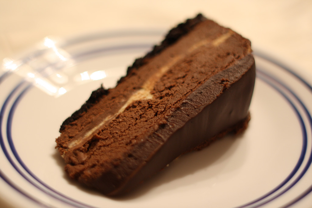 ... make her a chocolate almond cheesecake using our deep dark chocolate